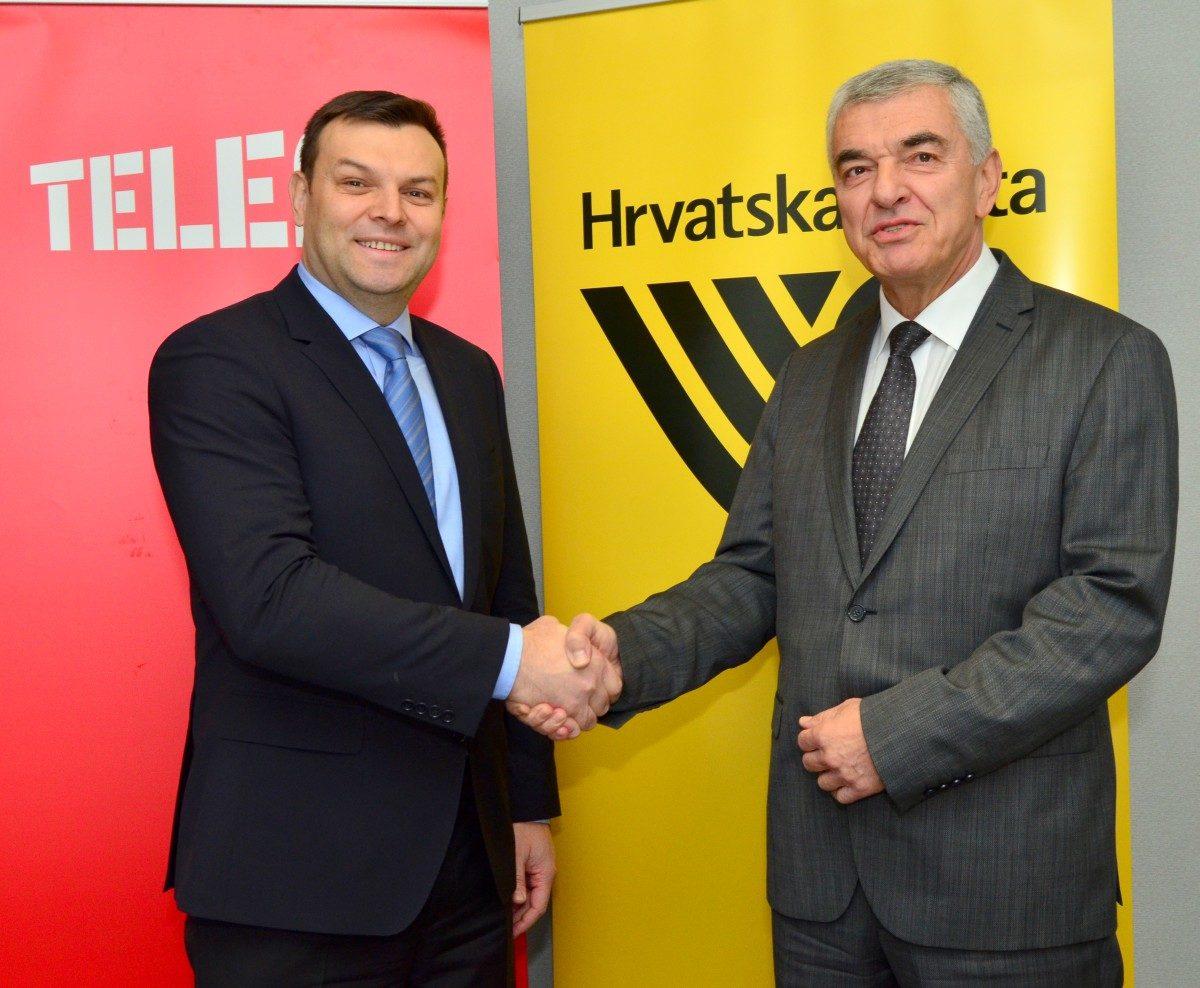 Viktor Pavlinić, predsjednik Uprave Tele2 Hrvatska i Josip Udiljak, član Uprave Hrvatske pošte