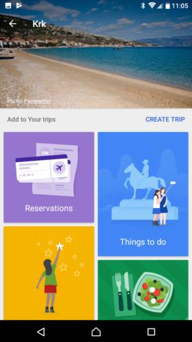 Google Trips Planner
