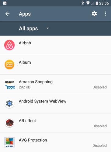 Neke ugrađene aplikacije moguće je isključiti