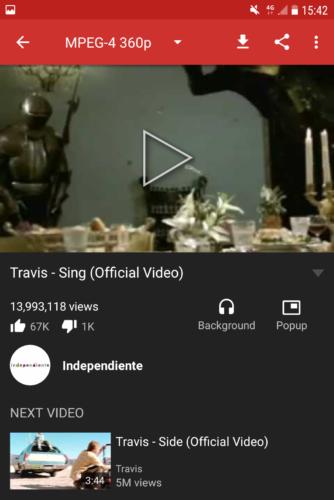 Opcije prilikom prikaza videa