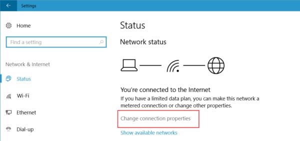 Promjena postavki mreže