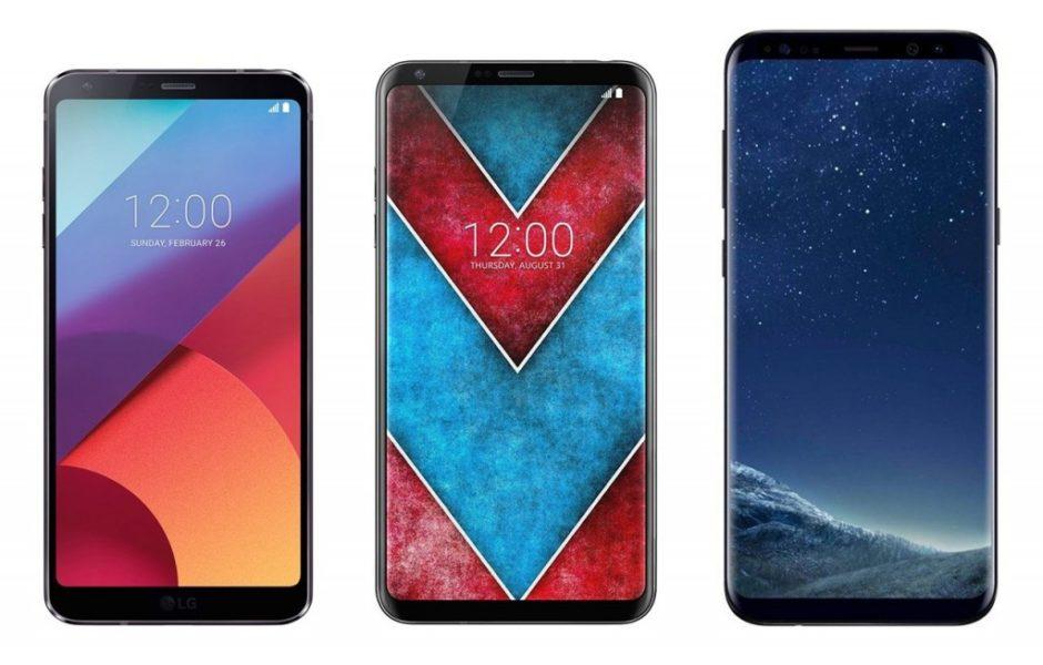 LG G6, LG V30, Galaxy S8