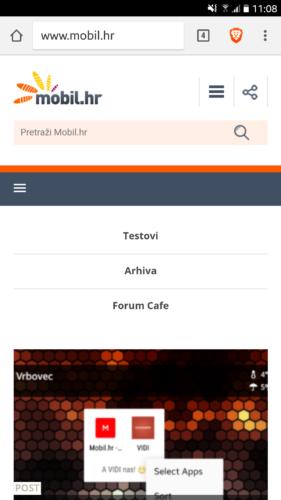 Standardni izgled Chrome preglednika